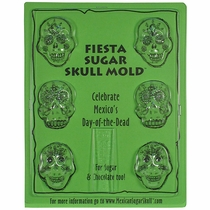 Fiesta Mini Sugar Skull or Chocolate Molds - Set of 2