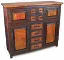 Francisco 4 Door 8 Drawer Credenza with Copper
