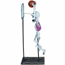 Action Skeleton Basketball Player - Paper Mache