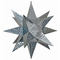 Giant Natural Punched Tin Star Light - 3 Feet Dia.