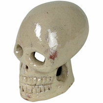 Glazed White Ceramic Skull