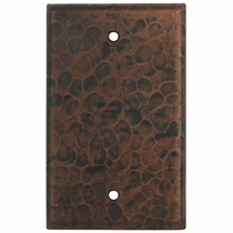 Hammered Copper Blank Cover Plate