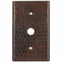 Hammered Copper Cable Plate Cover