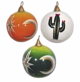 Hand Painted Clay Christmas Ornaments