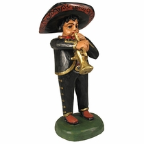 Hand Painted Wood Mariachi - Trumpet
