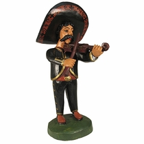 Hand Painted Wood Mariachi - Violin