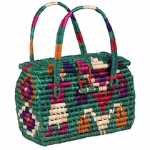 Handmade Mexican Palm Handbag Purse
