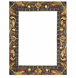Hand Painted Folk Art Mirrors and Frames
