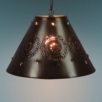 Hanging Medium Punched Marble Shade Lamp