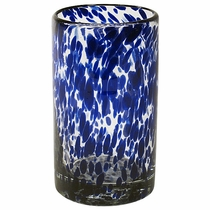 Highball Blue Spotted Glass - Set of 4
