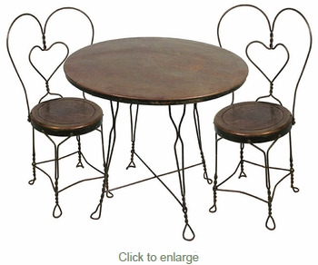 Ice Cream Parlor Set - Table and 4 Chairs