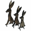 Jackrabbits Metal Yard Sculptures  - Set of 3