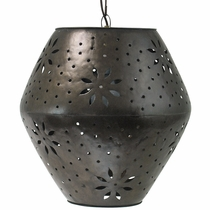 Large Aged Tin Margarita Hanging Pendant Light