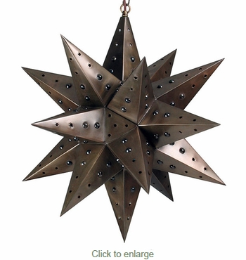 Aged Tin Star with Marbles