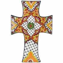 Large Celtic Talavera Cross
