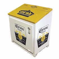 Large Corona Ice Chest Yellow-White
