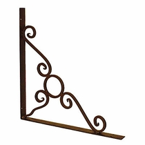 Large Iron Corner Bracket - Shelf Support