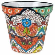 Large Mexican Talavera Flower Pot - Assorted