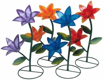 Large Painted Metal Lilies - Garden Sculptures