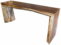 Large Parota Wood Sofa Table