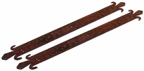 Large Rusty Iron Strap - Set of 2