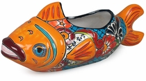Large Talavera Fish Flower Pot