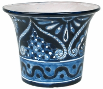 Large Talavera Flower Pot Blue & White