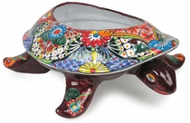Large Talavera Sea Turtle Planter