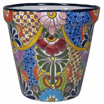 Large Tapered Talavera Flower Pot