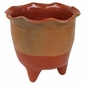 Large Terra Cotta Footed Planter