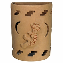 Large Terra Cotta Kokopelli Sconce