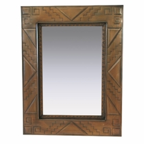 Medium Aged Tin Southwest Mirror