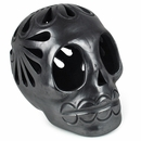 Medium Black Clay Skull
