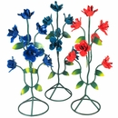 "Medium Painted Metal Roses - 20"" Tall"