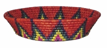 Medium Round Palm Basket - Multi-color