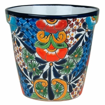 Medium Tapered Talavera Flower Pot