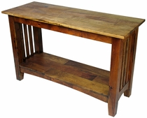 Mesquite Mission Slat Sofa Table