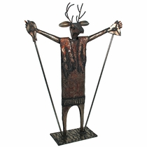 Metal Deer Dancer Yard Art Sculpture