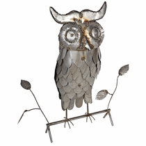 Metal Owl Yard Art