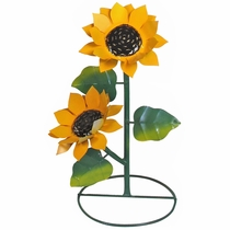 Metal Sunflower Yard Art Sculptures - 3 Sizes