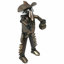 Mexican Bandito Bank Robber Metal Yard Sculpture