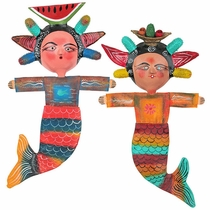Mexican Coconut Mask Mermaids - Assorted Designs