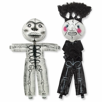 Mexican Coconut Mask Skeletons - Black or White