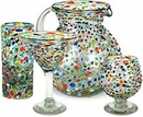 Pebbled Confetti Mexican Glassware Collection