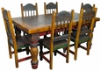 Mexican Country Style Painted Wood Dining Set