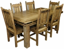 Mexican Iron Banded Southwest Dining Set - 7 Piece