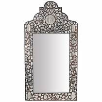 Mexican Milagro Mirror with Virgin