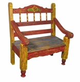 Mexican Painted Rustic Benches