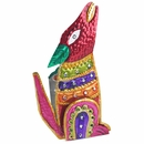 Mexican Painted Tin Howling Coyote Candle Sconce