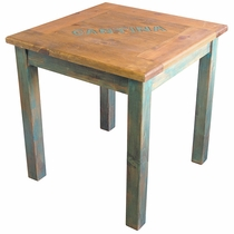 Mexican Painted Wood Cantina Table - Red or Green